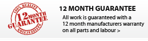 All our work is guaranteed for 12 months